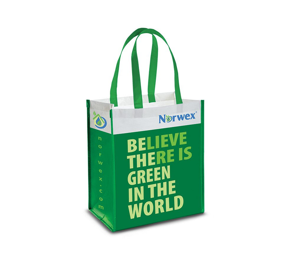 Reusable Grocery Bag with BacLock®, green