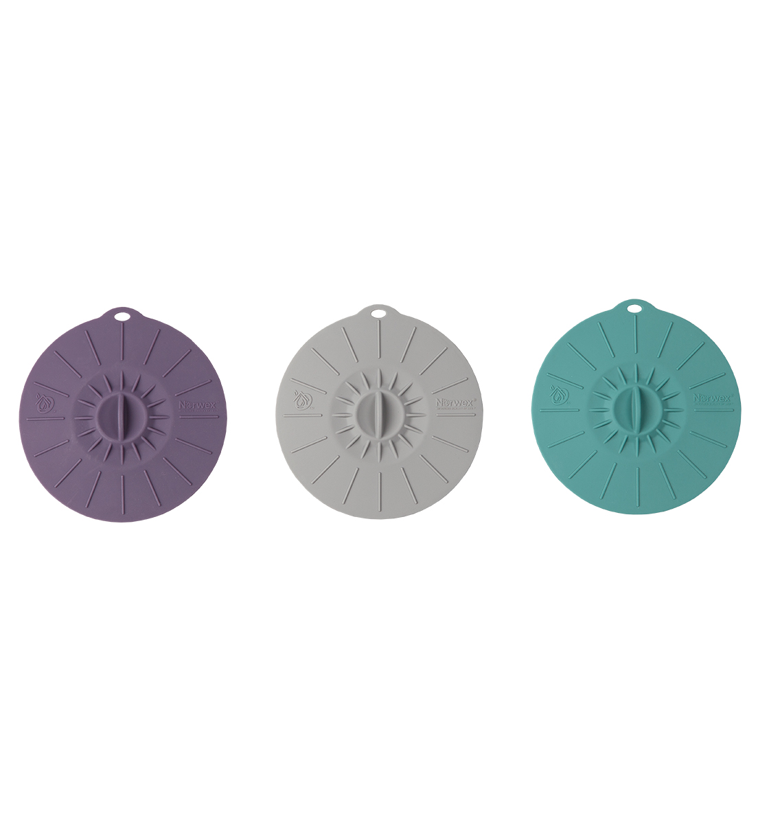 Silicone Cup Lids, graphite, teal, eggplant