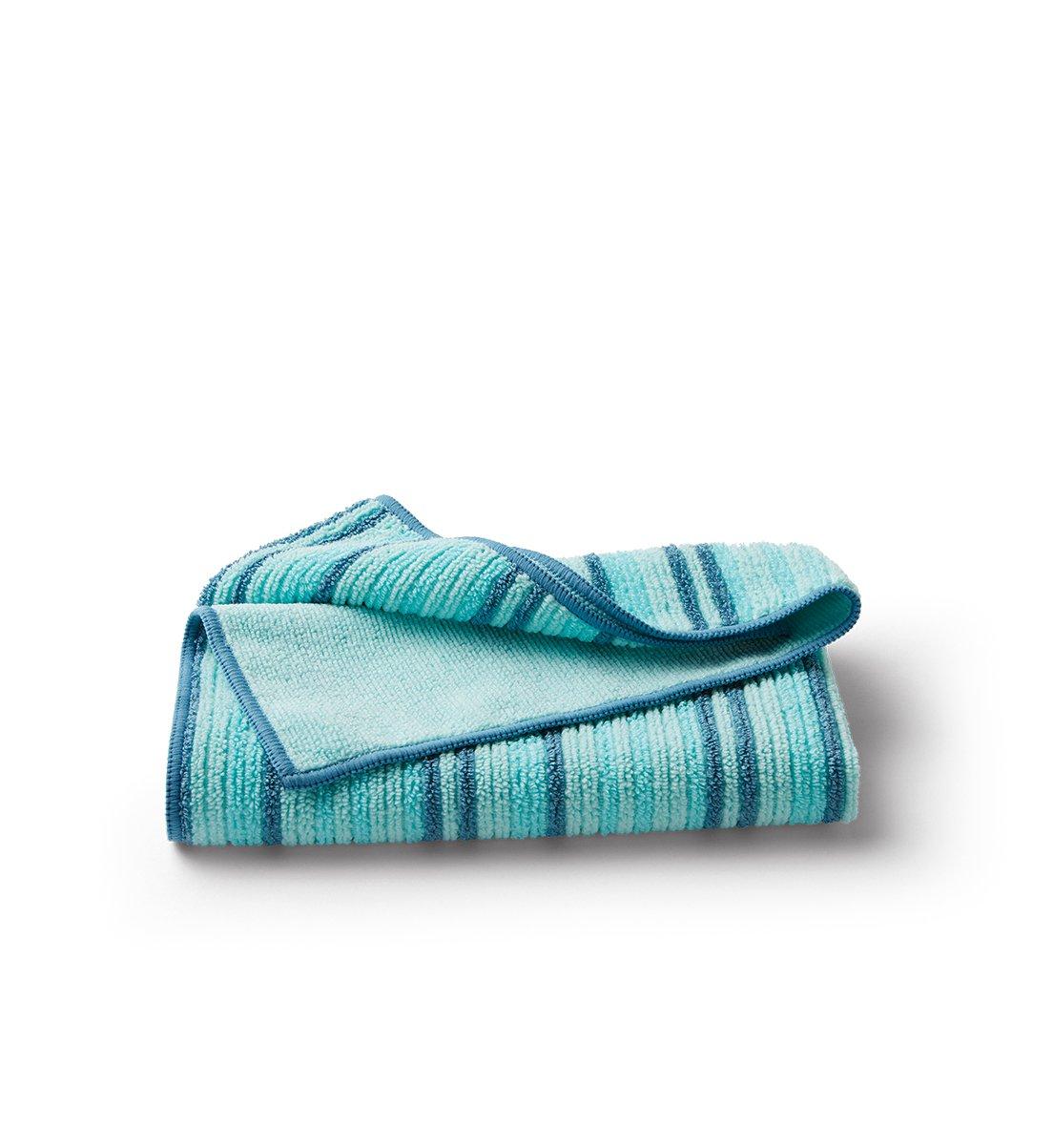 Hand Towel, sea mist stripe