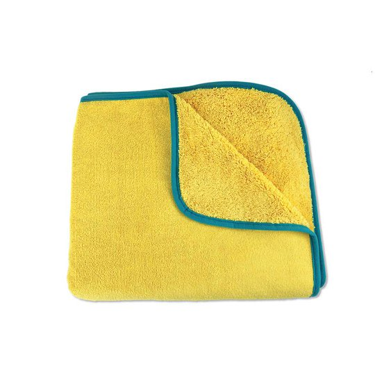 Kids Towel, yellow with teal trim
