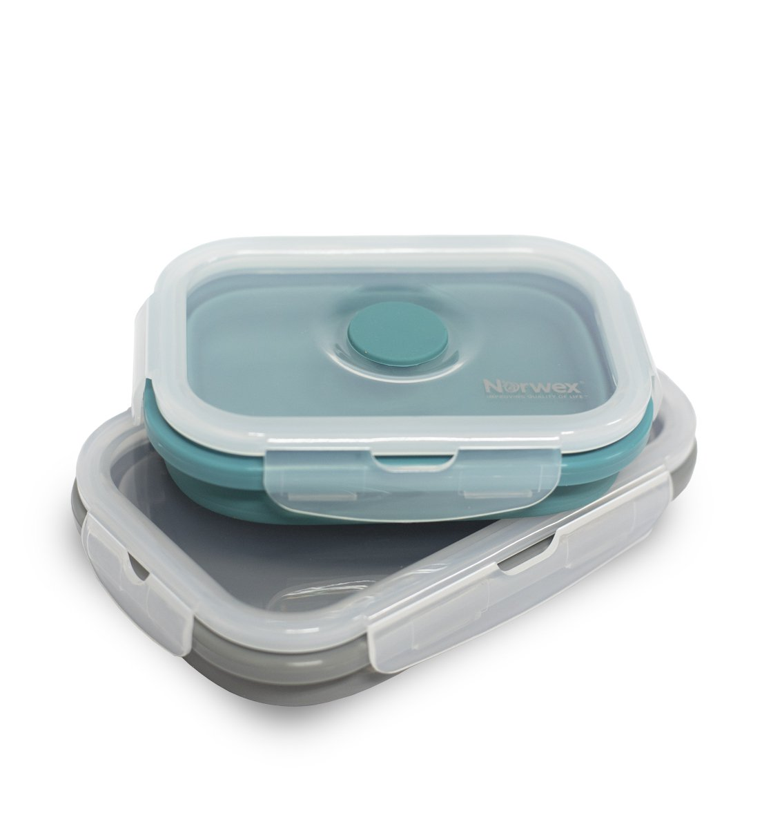 Silicone Collapsible Food Storage Containers, small & medium