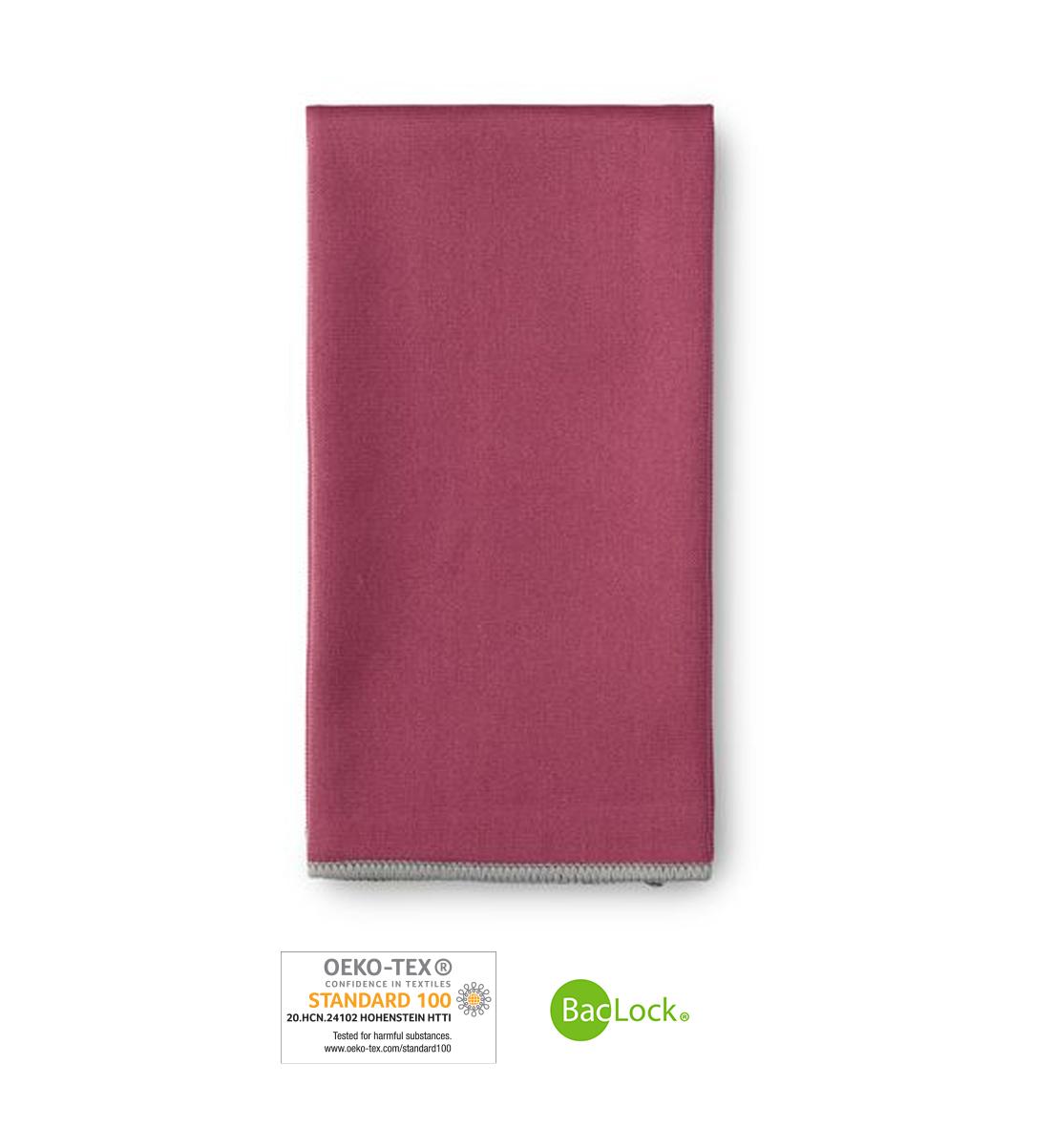 Window Cloth, plum with graphite trim