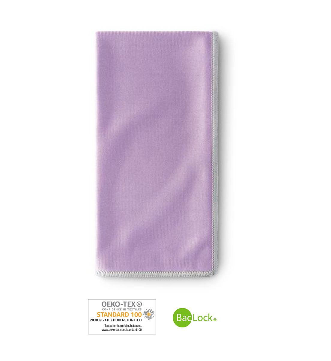 Window Cloth, amethyst with graphite trim